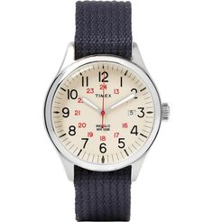 <a href='http://www.mrporter.com/mens/Designers/Timex'>Timex</a> revives its storied past with the 'Archive' project, a collection of finely crafted timepieces that combine quality design with retro verve. Made with a stainless steel case and durable webbing strap, this 'Waterbury United' watch features easy-to-read indexing, a date window and the label's signature INDIGLO® backlight. It's designed with both a 12 a...