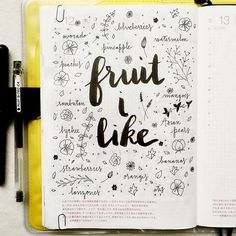 I need to get more fruit into my diet, maybe it's because the ones that I like are Asian and not widely available here. What is your favorite fruit? #hobonichi #stationery #journal #journaling...