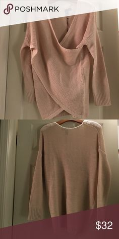 NWT ballet pink wrap sweater. Small Francesca's sweater. Soft and lightweight. Light soft pink. Francesca's Collections Sweaters