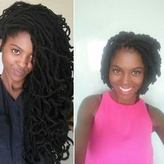 from long dreadlocks to short dreadlocks without cutting.
