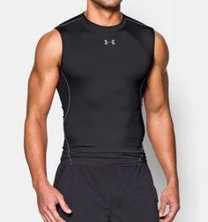 online retailer 2fc1b b4ad7 Under Armour Men s UA HeatGear Armour Sleeveless Compression Shirt