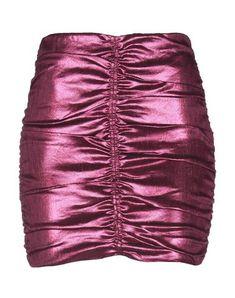 76a3461c1 Miss Selfridge Pink Vinyl A-Line Skirt ($49) ❤ liked on Polyvore ...
