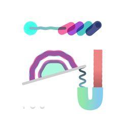 Translucent shape and dynamic line. Color scheme. Vincent Tsui.