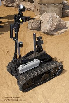 Talon is a remote controlled robot and part of the new Talisman suite of vehicles to counter the threat of Improvised Explosive Devices in Afghanistan.