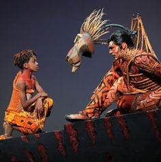 Lion King stage play. SCAR & SIMBA