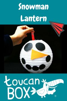 Let your kids create their very own snowman lantern. Easy to make and lots of possibilities to give it a personal touch.
