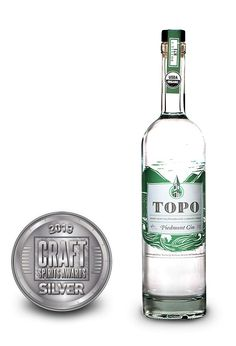International Craft Spirits Competition Topo Piedmont Gin: 2013 Silver Medal Winner