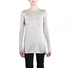 Juniver Silk Cashmere Long Sweater Tee