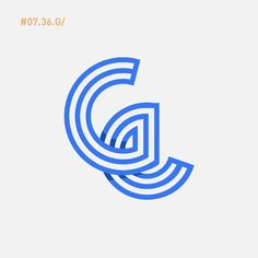 G #36days_G #36daysoftype #36daysoftype03 #line #design #type #display #typedisplay #typography #blue #experimental #thedesigntip #vector #illustrator #illustrations