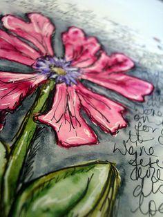 flower art journal * 21 Secrets Art Journaling Workshop