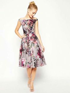 0d54c1b9b7 Love the ASOS Beautiful Floral Printed Midi Prom Dress on Wantering.