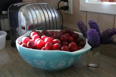 Today's task is to give jam making a try. If you haven't done it before, I highly recommend starting with plums, specifically cherry plums. I don't know if it's just a Calif… Jam Making, Plum Jam, How To Make Jam, Jam And Jelly, Preserves, Serving Bowls, Cherry, Favorite Recipes, Liqueurs