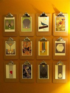 diy art with clipboards? hmmm do i love this because im a teacher and love office supplies? hmmmm