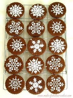 snowflake cookie recipe - tastes like brownies