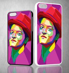 Bruno Mars ART Y1428 iPhone 4S 5S 5C 6 6Plus, iPod 4 5, LG G2 G3 Nexus 4 5, Sony Z2 Case