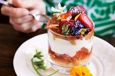 This boozy trifle is the perfect quick, light, bright and sweet finish to any garden party menu.