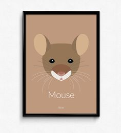 Mouse Poster - Available at www.bomedo.com