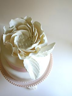 Romantic Edible Sugar Blooms with Bejewled Center by Andie's Specialty Sweets