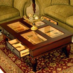 A humidor coffee table. Life complete!
