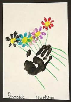 another take on Picasso's Hands with flowers