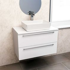 The Napoli 2 Drawer Wall Mounted Unit and Top is a stylish and versatile option for any modern bathroom.  Pair with the counter top basin of your choice for a sleek and sophisticated look. Fitted Bathroom, Bathroom Spa, Bathroom Storage, Modern Bathroom, Master Bathroom, Pedestal Basin, Basin Unit, Basin Cabinet, Wall Mounted Vanity