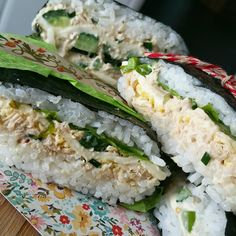 What is an Onigirazu? Similar to an Onigiri and Omusubi (think Spam Musubi) an Onigirazu is a seaweed (nori) wrapped rice sandwich that's made without a form. Stuffings range from traditional Japan...