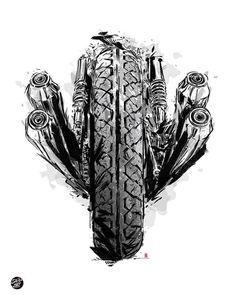Dessin d un homme faisant un saut de moto cross avec du style colorier coloriage - Dessin voiture stylisee ...