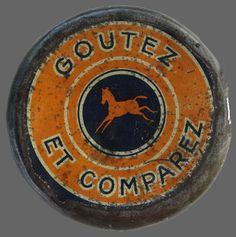 Objet Pub ... Boite métal CHOCOLAT POULAIN ... sur www.mulubrok.fr Cacao, Tins, Vintage, Art, Antique Boxes, Posters, Objects, Tin Cans, Art Background