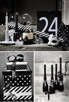 Different - black and white theme for Christmas. Maybe next year - this year I have done red and white!
