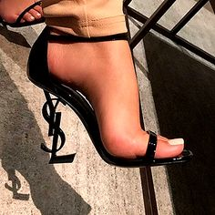 ysl heels tribute ysl heels replica ysl shoes sale ysl heels opyum ysl logo heel ysl shoes mens ysl shoes outlet ysl tribute low heel - STYLE DETAILS Iconic luxury sandals with chic straps and metal inter-locking YSL monogrammed heel. Ysl Heels, Lace Up Heels, Pumps Heels, Stiletto Heels, Black Heels, Ysl Sandals, Nice Heels, Sandals Outfit, High Heels Sandals