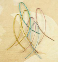 Slip Ons  - Comfortable Niobium Earrings - Hypo Allergenic. $20.00, via Etsy.