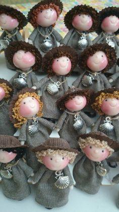 Tumima Dolls de Marisa Madejón. Peregrinas a Santiago de Compostela.