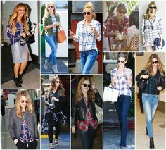 Style Stalking Celebs in Rails Plaids | south moon under