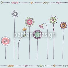 Hochqualitative Vektor-Muster auf patterndesigns.com - Bunte-Blumenwiese, designed by Christina Wasenegger