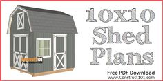 Below are step-by-step instructions to build a shed door. These shed door plans can easily be customized to fit most sheds. 10x10 Shed Plans, Lean To Shed Plans, Free Shed Plans, Shed Building Plans, Coop Plans, Barn Plans, Simple Workbench Plans, Workbench Ideas, Sawhorse Plans