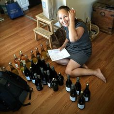 Amira doing her semiannual wineventory