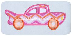 Vintage Car Applique Design