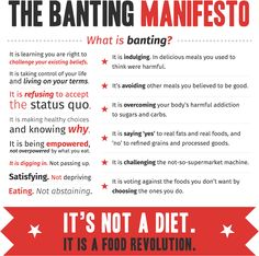 The Banting Manifesto