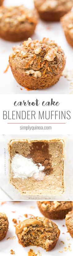 Pull out your blender and whip up these healthy and simple carrot cake blender muffins! Kid-friendly, gluten and dairy-free, and full of fruits and veggies!