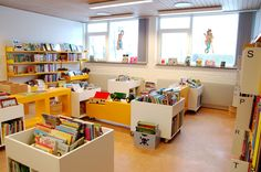 Bibliotek bogkasse Loft, Classroom, Doors, Bed, Google, Furniture, Home Decor, Class Room, Decoration Home