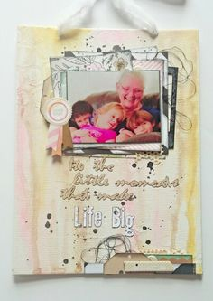 Made with scraps from my 2015 march hip kit, crate paper, WRM, water colors