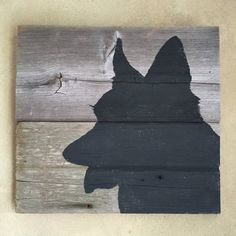 Rustic Barn Wood Wall Decor Corgi Silhouette Wall Art by Murage Silhouette Painting, Dog Silhouette, Pallet Wall Art, Wood Wall Decor, Rustic Barn, Barn Wood, Dog Outline, Diy Rustic Decor, Dog Design