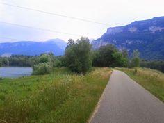 la route cyclable, vers Voreppe