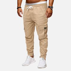 Men's Elastic Waist Drawstring Big Pocket Solid Colour Casual Cargo Cotton Jogger Long Pants is fashionable and cheap, come to NewChic to see more trendy Men's Elastic Waist Drawstring Big Pocket Solid Colour Casual Cargo Cotton Jogger Long Pants online. Cargo Pants Men, Jogger Pants, Joggers, Casual Pants, Khaki Pants, Ripped Jeans Men, Type Of Pants, Elastic Waist Pants, Long Pants