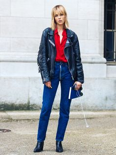9 Outfits That Prove High-Waisted Jeans Are the Most Flattering via @WhoWhatWearUK