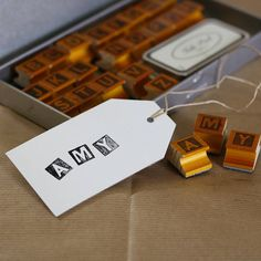 Vintage Rubber Alphabet Stamps And Ink Pad need on of these £37.50 from notonthehighstreet.com