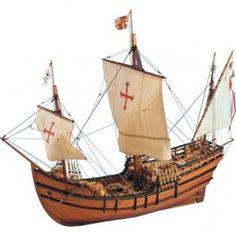 """Maqueta de Madera de la carabela de Colón """"La Pinta"""" para montar. Más información →  http://www.burmodel.com/nivel-medio/9601-la-pinta-8421426224122.html #modelismo #maquetas #barcos"""