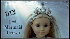 How to Make Doll Mermaid Crown - Easy DIY for American Girl Doll