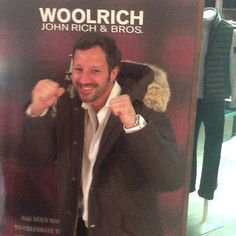 What does a parka make me feel? #strongestmanonearth #woolrich #yubeloveswoolrich