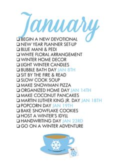 Reasons To Celebrate January! A monthly life list helps us celebrate each season of the year and find joy in every Reasons To Celebrate January! A monthly life list helps us celebrate each season of the year and find joy in every day!